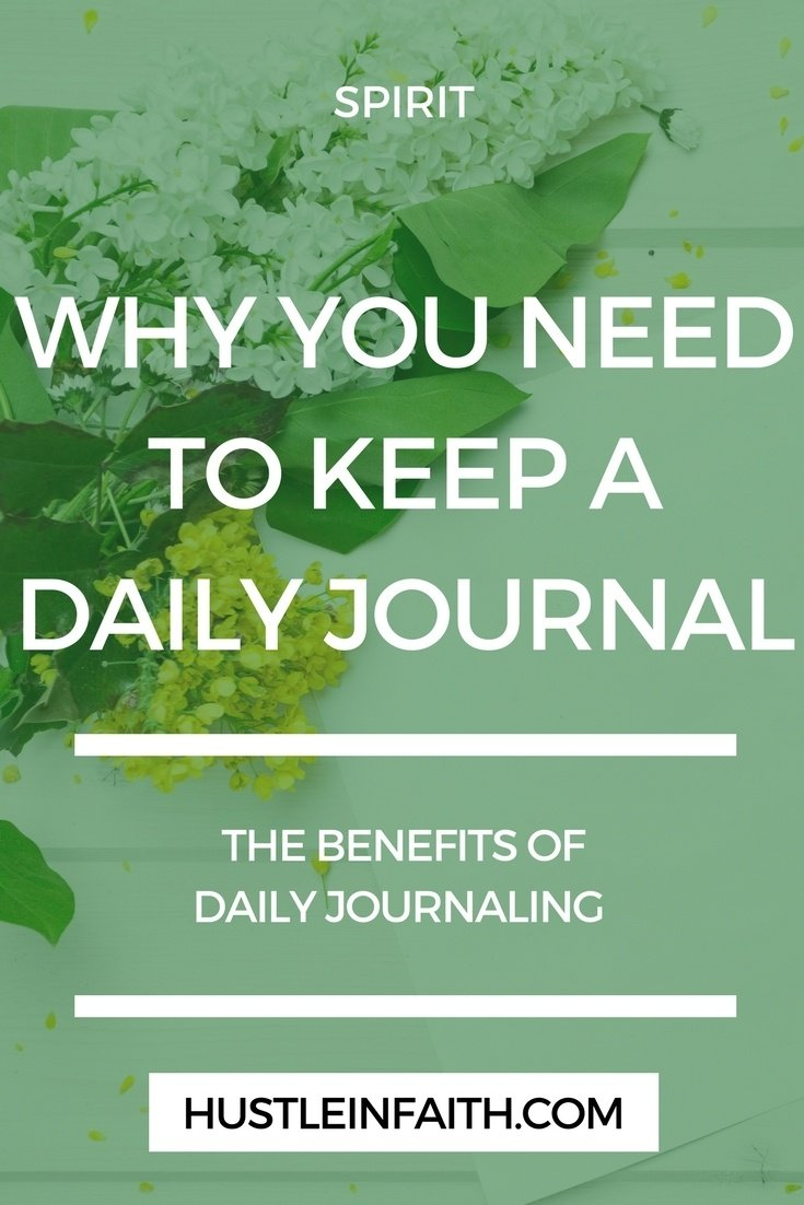 Hustle in Faith Why you need a daily journal